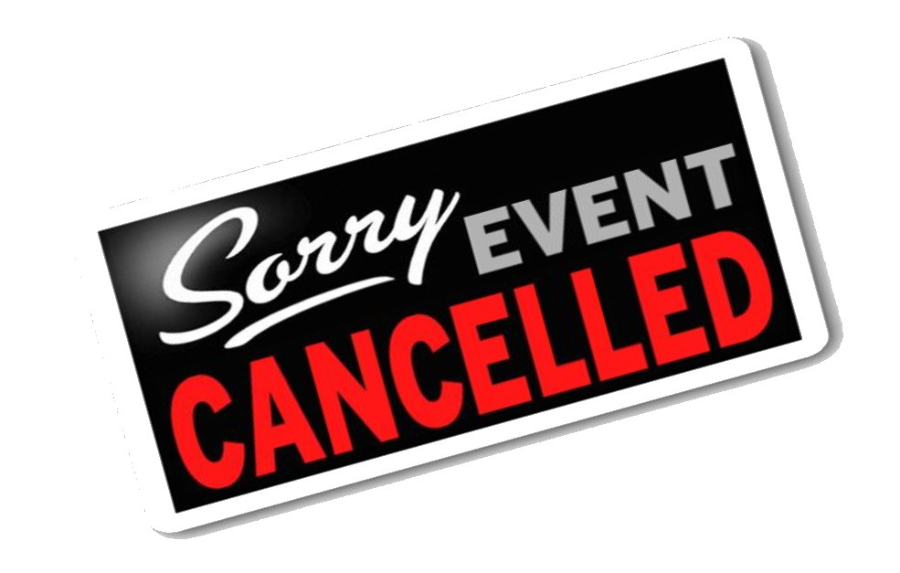 Event Cancelled Sign