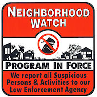 neighborhood watch sticker